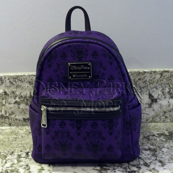 a956342c404 Disney Loungefly Haunted Mansion Mini Backpack